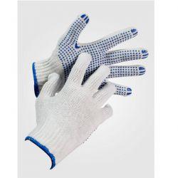Γάντια Πλεκτά Βαμβακερά Με Κόκκους Cotton Dot Plus