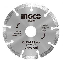 Δίσκος Διαμαντέ 115mm Δομικών Υλικών Ingco