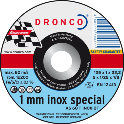 Δίσκος Κοπής Inox special 125x1mm Dronco