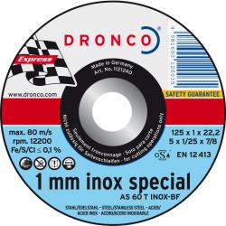 Δίσκος Κοπής Inox special 125x1mm Dronco