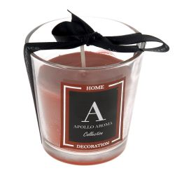 Κερί Αρωματικό Σε Ποτήρι Κόκκινο Φ7x7,5cm