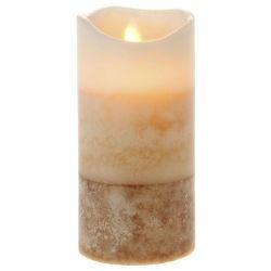 Κερί Led Τρίχρωμο Κρέμ 7,5x15cm