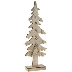 Ξύλινο Δέντρο Με Led Φώς 15x6x43cm