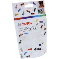 Ανταλλακτικά Θερμοκόλλας Gluey Διαφανή 70 Τεμαχίων Bosch