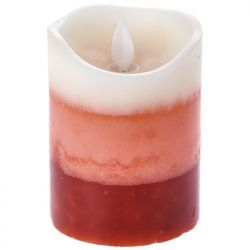 Κερί Led Τρίχρωμο Κόκκινο 7,5x10cm