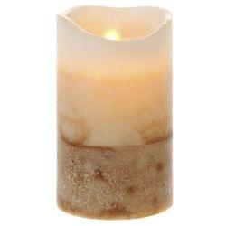 Κερί Led Τρίχρωμο Κρέμ 7,5x12,5cm
