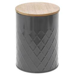 Κουτί Γκρί Με Μπαμπού Καπάκι 11x16cm
