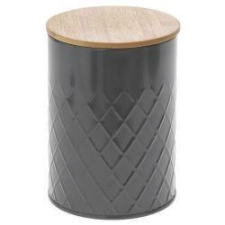 Κουτί Γκρί Με Μπαμπού Καπάκι 14x18cm