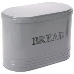 Μεταλικό Κουτί Bread Γκρί  33x19x24cm