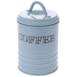 Κουτί Μεταλλικό Coffee Γαλάζιο 10x17cm