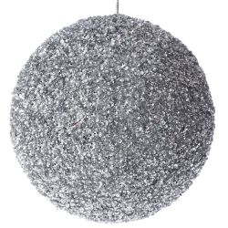 Μπάλα Ασημί Με Στράς Φ15cm