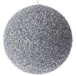 Μπάλα Ασημί Με Στράς Φ20cm