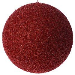 Μπάλα Κόκκινη Με Στράς Φ25cm