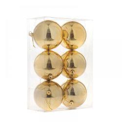 Μπάλα Χρυσή Σέτ 6τμχ Φ10cm