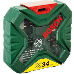 Σετ Κασετίνα Τρυπάνια Και Καρυδάκια 34 Τεμαχίων Bosch