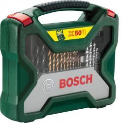 Σετ Κασετίνα Τρυπάνια Και Καρυδάκια Με Τρυπάνια Τιτανίου 50 Τεμαχίων Bosch