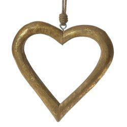 Ξύλινη Καρδιά Κρεμαστή 24x26cm