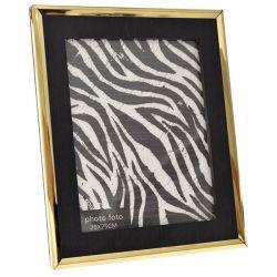 Κορνίζα Ξύλινη Μαύρο - Χρυσό 27x32cm