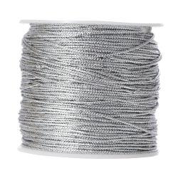 Σχοινί (κορδόνι) Μεταλιζέ Ασημί 1mm