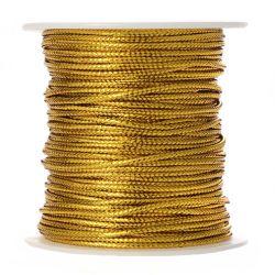 Σχοινί (κορδόνι) Μεταλιζέ Χρυσό 2mm