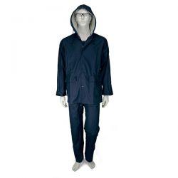 Αδιάβροχο Κοστούμι PU Με Kουκούλα Μπλε Comfort