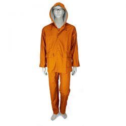 Αδιάβροχο Κοστούμι PU Με Kουκούλα Πορτοκαλί Comfort