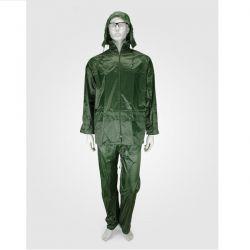 Αδιάβροχο Κοστούμι PVC Με Kουκούλα Πράσινο Rain Plus