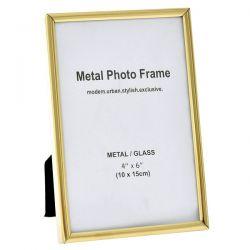 Κορνίζα Μεταλλική Χρυσή10x15cm