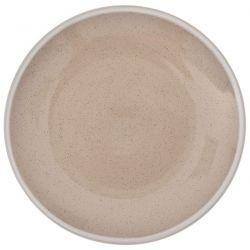 Πιάτο Γλυκού  Κεραμικό Κρέμ 20cm