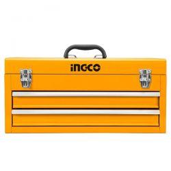Εργαλειοθήκη Άδεια 3 Θέσεων Με 2 Συρτάρια Ingco