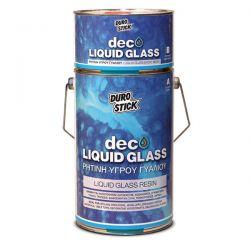 Ρητίνη Υγρού Γυαλιού Deco Liquid Glass Durostick 375gr