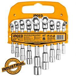 Σετ 9τεμ Γωνιακά Κλειδιά Καρυδάκια Επαγγελματικά Ingco