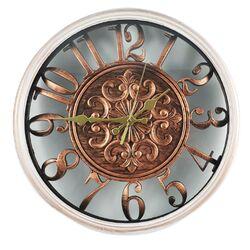 Ρολόι Τοίχου Πλαστικό Λευκό - Μπρονζέ Φ35cm - 90100569859
