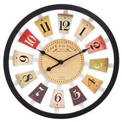 Ρολόι Τοίχου Πλαστικό Μαύρο Φ30cm