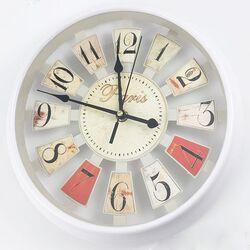 Ρολόι Τοίχου Πλαστικό Λευκό Paris Φ26cm