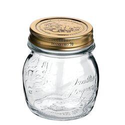 Βάζο Γυάλινο Με Χρυσό Καπάκι 250ml
