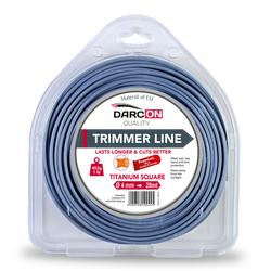Μεσινέζα Τετράγωνη Titanium 4mm-28m Premium Darcon - 100445