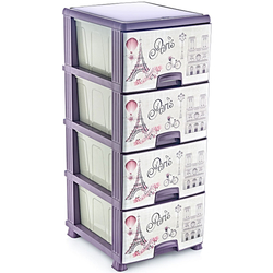 Συρταριέρα Χρωματιστή 4 Θέσεων Viosarp - 8697422303479