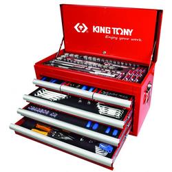 Εργαλειοθήκη Μεταλλική Με 234 Εργαλεία King Tony - 911-003CR01