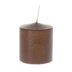 Κερί Κύλινδρος Καφέ 7x8cm - 28933407