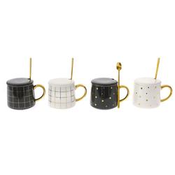 Κεραμική Κούπα Με Κουταλάκι & Καπάκι Elegant - 28976167
