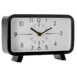 Ρολόι Επιτραπέζιο Μεταλλικό Μαύρο Με Γυαλί 22x6x14cm - 28974011