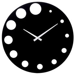 Ρολόι Τοίχου Από MDF & Μελαμίνη Μαύρο Φ40cm - 28974021