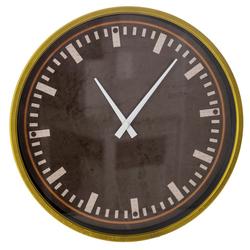 Ρολόι Τοίχου Μεταλλικό Μαύρο Με Γυαλί Φ40cm - 28974026