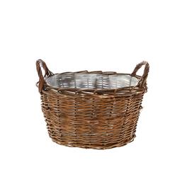 Καλάθι Ψάθινο Καφέ Για Φύτεμα 31x25x20cm - 28974361