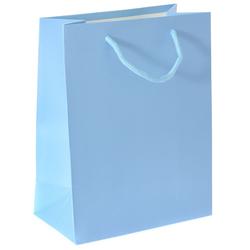 Χάρτινη Γαλάζια Σακούλα 18 x 10 x 23cm - 28964602