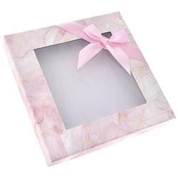 Χάρτινο Ροζ Κουτί Με Παράθυρο 23 x 23 x 4cm  - 28969584
