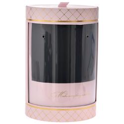 Χάρτινο Στρόγγυλο Ροζ Κουτί Με Παράθυρο 20 x 31cm - 28969536