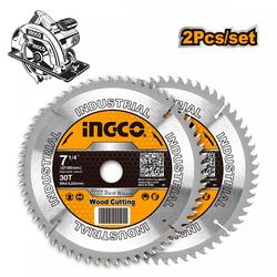 Δίσκος Κοπής Ξύλου 185mm 2Τεμ Ingco