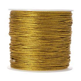 Σχοινί (κορδόνι) Μεταλιζέ Χρυσό 1mm